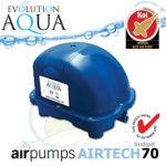 AirPump Airtech 70 l budget SET, 70 l/min., 34 Watt, bez krabice, včetně vzduchovacích rozvodů a kamenů