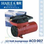 Pístový kompresor Hailea ACO 007 12V, 140 litrů/min., 130 Watt
