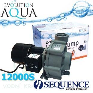 Sequence 12000S, výkon až 12.670 l/hod., spotřeba 72-92 Watt, výtlak až 2,5 m, až 3 roky záruka Evolution Aqua