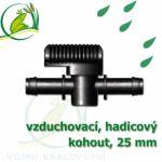 Vzduchovací (hadičkový) kohout pro 25 mm