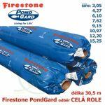 Jezírková fólie Firestone EPDM PondGard odběr celé půlrole, 189 Kč za 1 m2