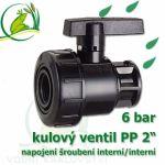 """kulový ventil PP 2 6 bar, jednostranně rozpojitelný, napojení oboustranné vnitřní šroubení 2"""""""""""