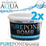 Pure Pond BOMB 2x, čistící a startovací bakterie pro bio-rovnováhu v jezírku,  použitelné po celý rok,  aplikace od 4 °C vody v jezírku, 2 ks pro 20-160 m3